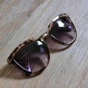 Loft Cat Eye Tortoise Gold Nose Piece Sunglasses